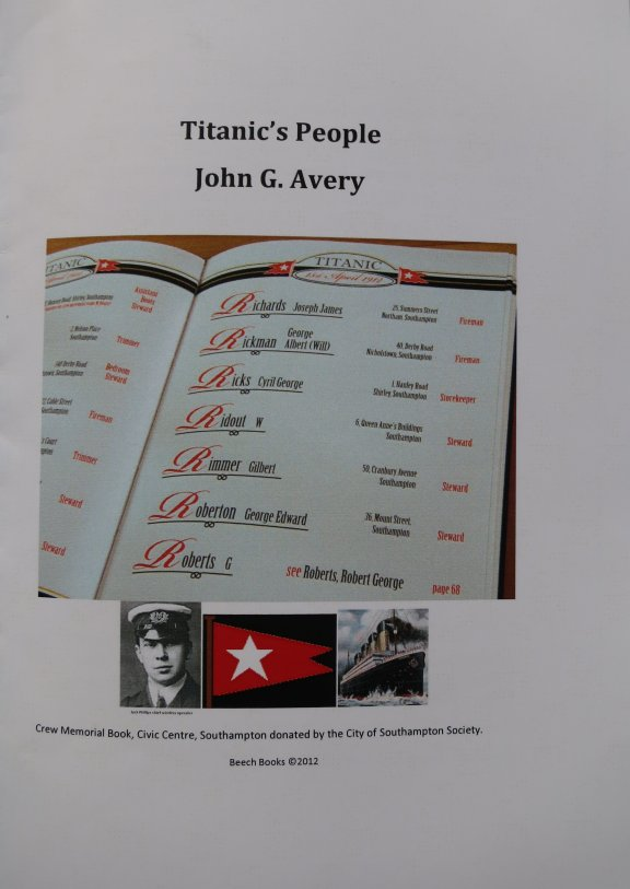 These excellent books by John Avery are available from Beech Books, 2 Beech Court, Beech Avenue, Southampton, Hants. SO18 4TS
