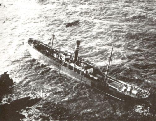 The Jane Rowe stranded.