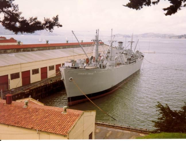 The Jeremiah O'Brian at her berth in San Francisco.