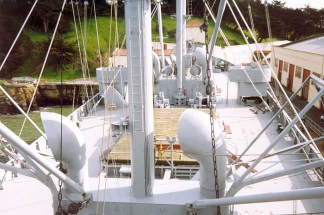View of the deck.