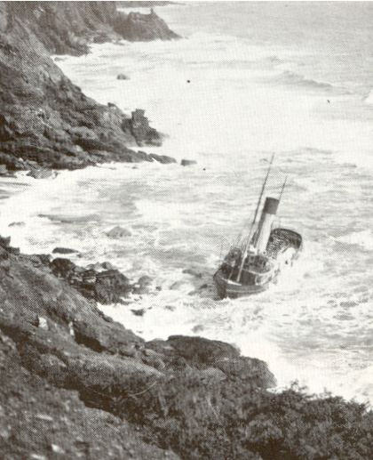 The steam tug Joffre ran aground just to the left of the Jane Rowe in 1925 but was refloated six weeks later and was finally broken up in 1966.