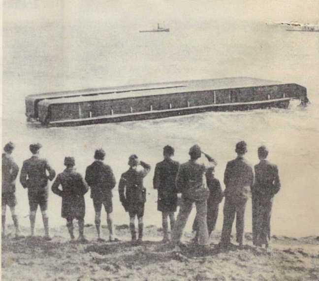 The upturned hull.