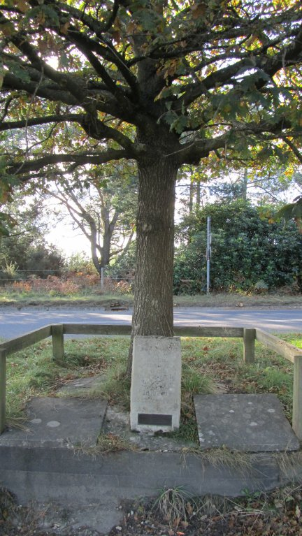 The Memorial where Lawrence crashed.