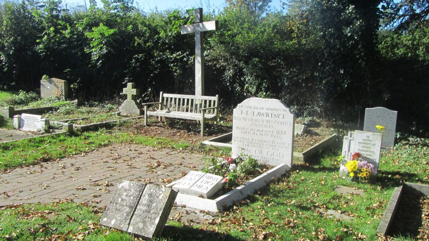 Lawrence of Arabia's simple grave.