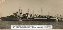2nd Flottilla at Venice 1938
