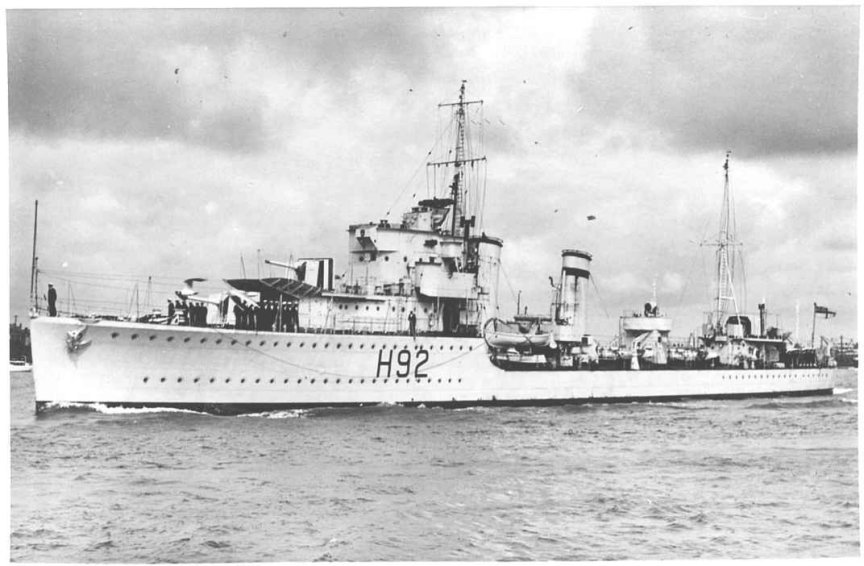 H.M.S.Gloworm. Photo supplied by Navy-Photos