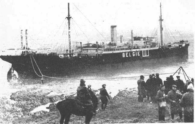 Louis Shied hard aground.