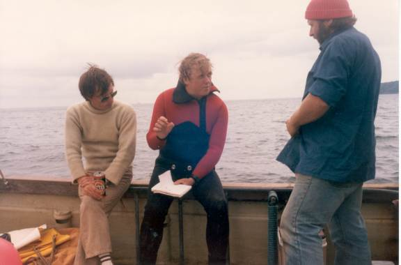 Roger, on right, giving a briefing.
