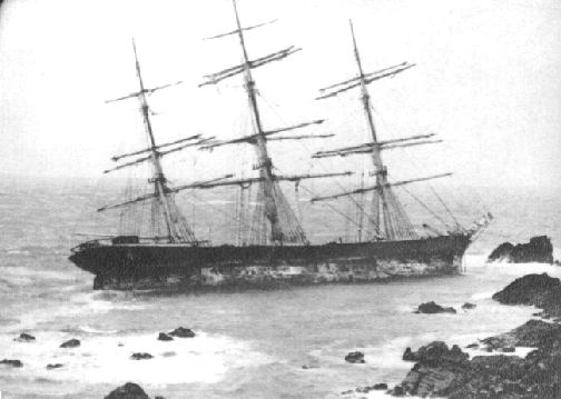 The wreck of the Andola.