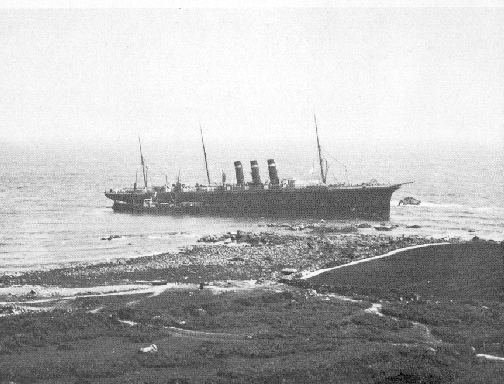 The Paris aground on the Manacles.