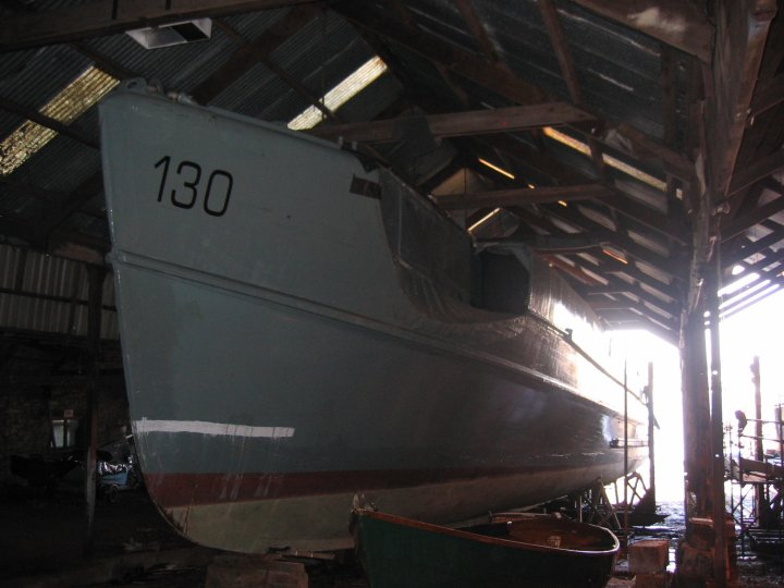 S-130 in the shed.