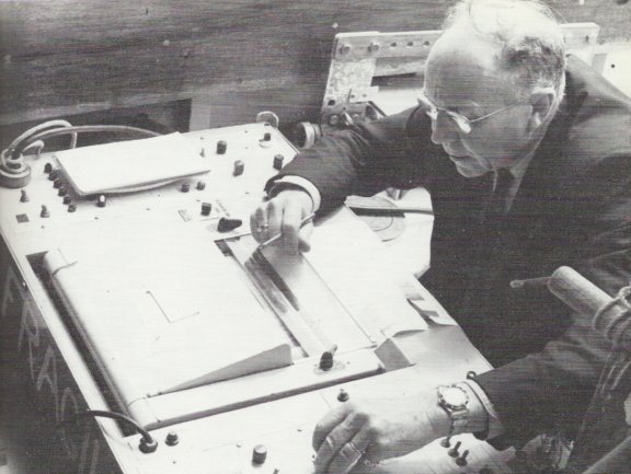 The Mary Professor Harold Edgerton and one of his 'Pingers' in 1968