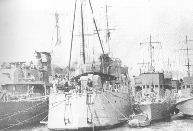 Some of the warships siezed by the British.