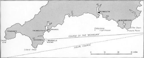 The Mohegan's ill fated course.