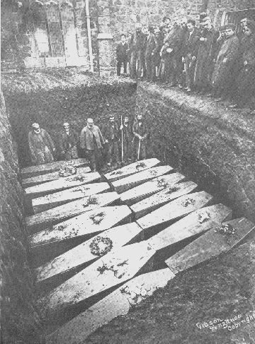 The mass grave at St.Keverne's Church.