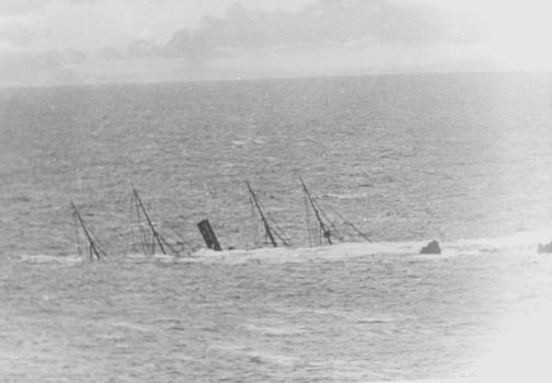 The Mohegan aground on the Manacles.