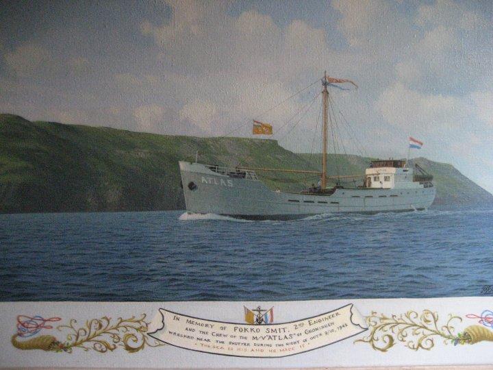 The 'Atlas' wrecked 1942