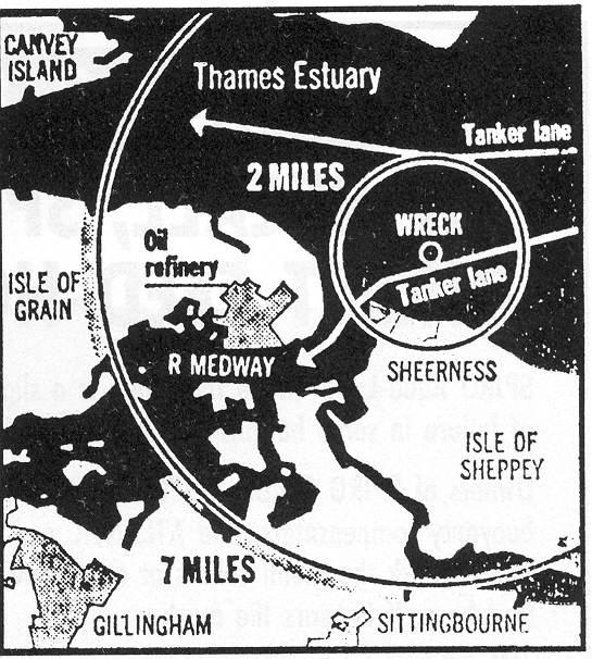 Location of the Richard Montgomery.