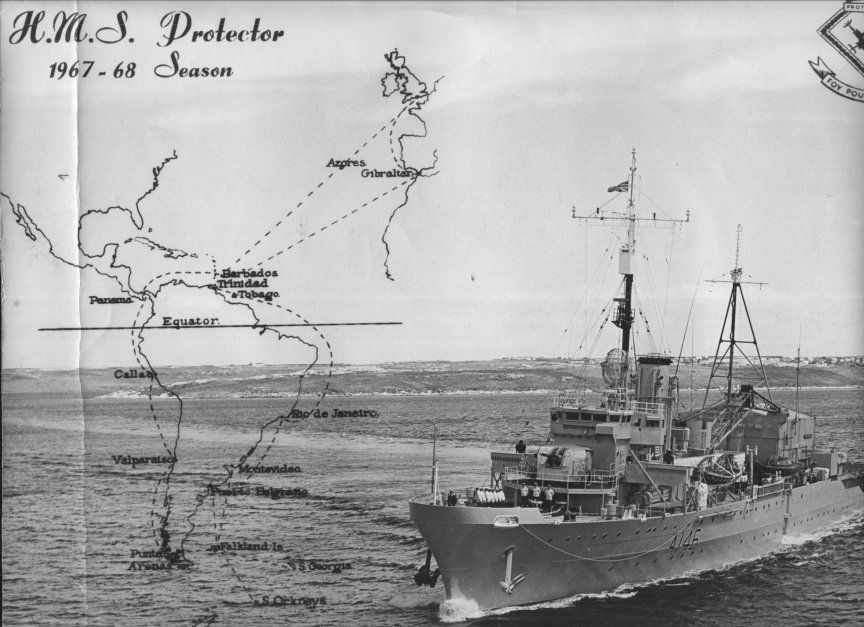 H.M.S.Protector at the Falklands. Photo Andy