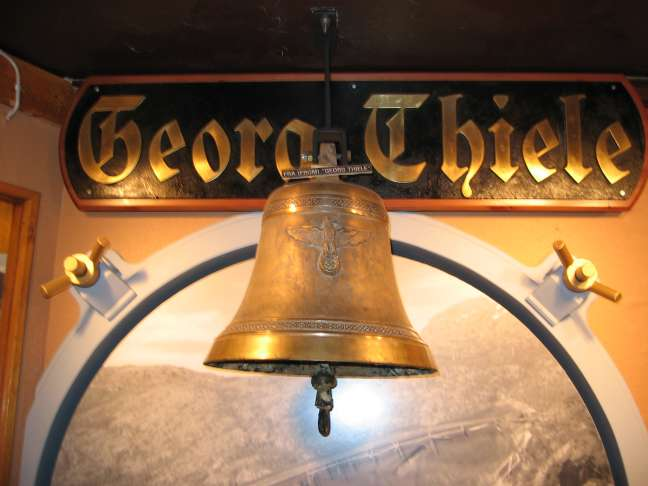 The bell from Z2, now in the Museum.