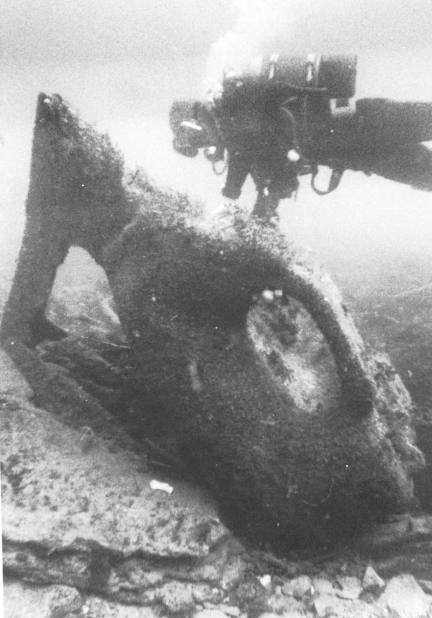 The bows of the wreck.