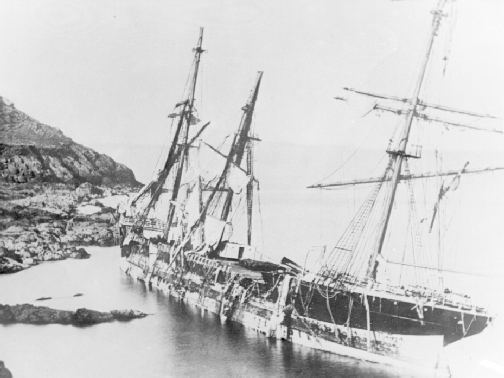 The wreck of the Bay of Panama.