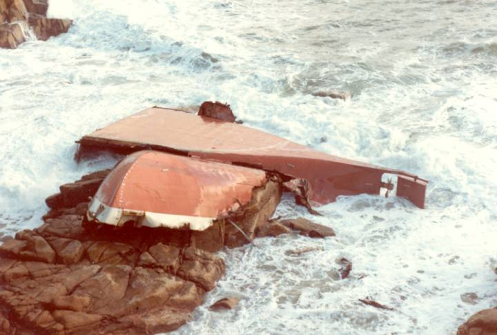 The wreck of the Union Star.