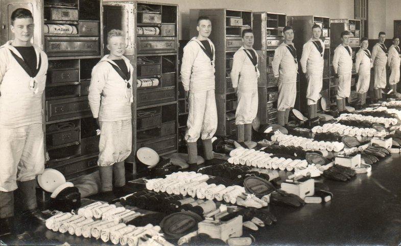 Kit muster at HMS St.Vincent.