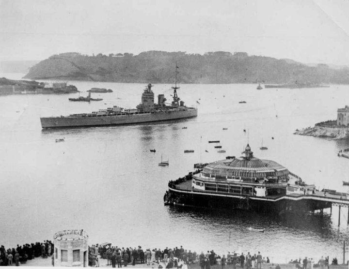 HMS Rodney in Plymouth Sound