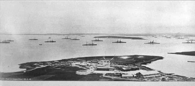 The German Fleet at Scapa Flow.
