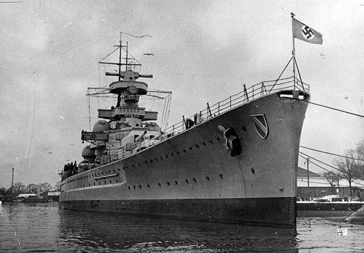 The Cruiser Scharnhorst.