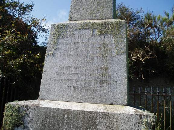 The Inscription on the Memorial reads:
