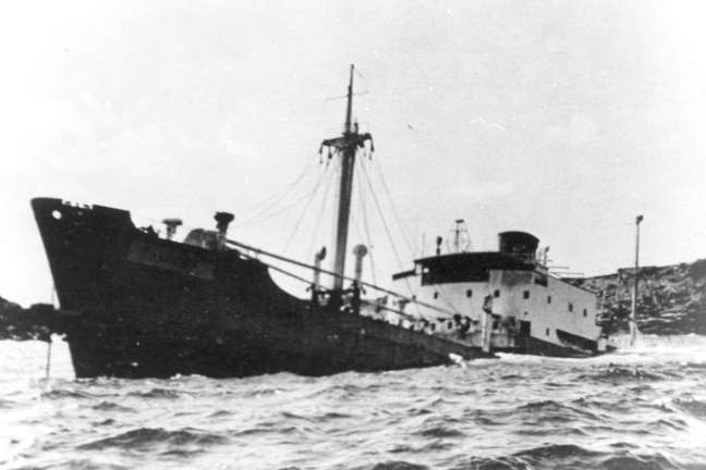 The wreck of the Poleire.