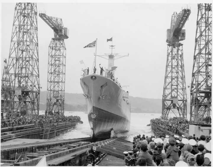 The Scylla being launched.