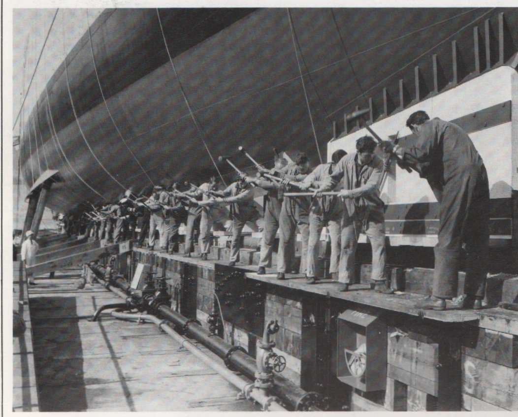 The Scylla being built.