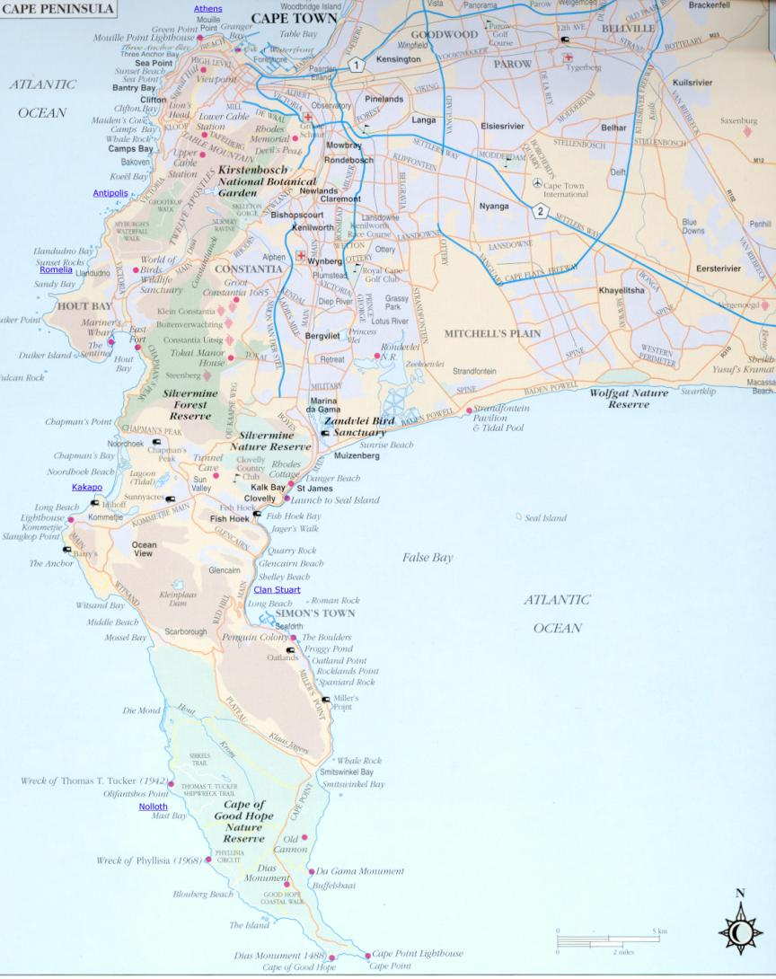 Map of the Cape Peninsular.