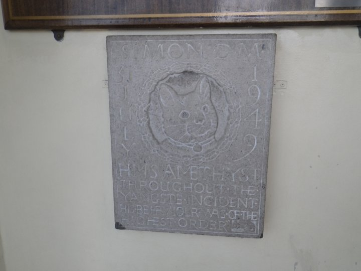 There is a memorial plaque to Simon, at the P.D.S.A surgery in Durnford Street, Plymouth.