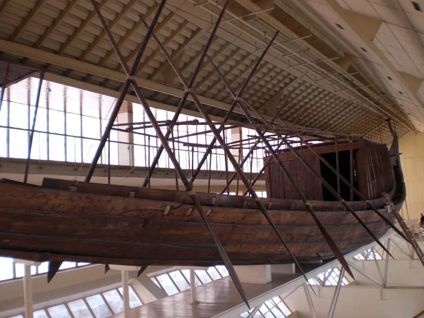 Side view showing cabin and oars. Photo Joyce Mitchell.