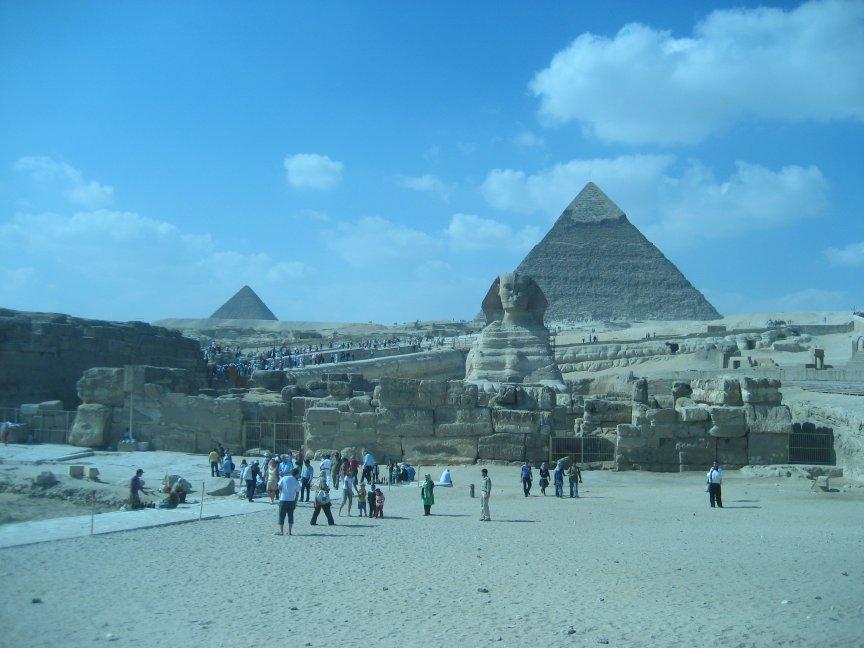 Chepren's Pyramid and The Spinx.
