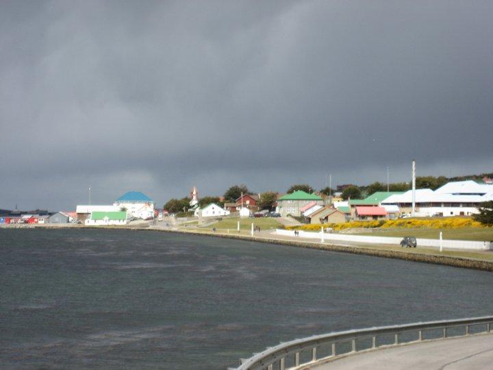 Looking towards Stanleys main jetty.