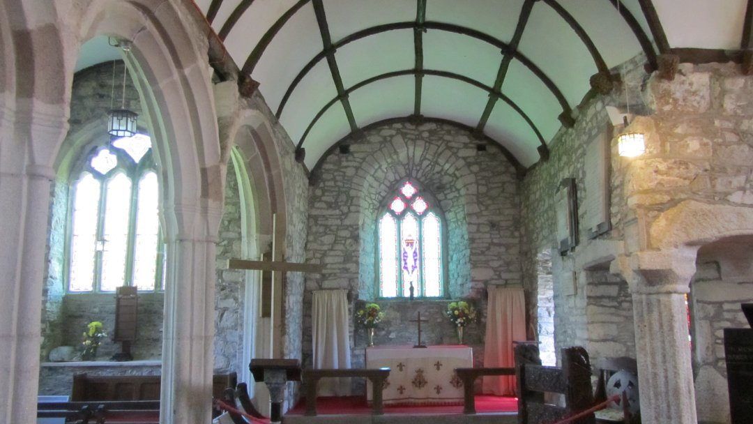 Inside St. Wynwallow Church