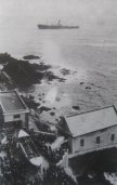 The Lizard Lifeboat station with survivors fron the Suevic