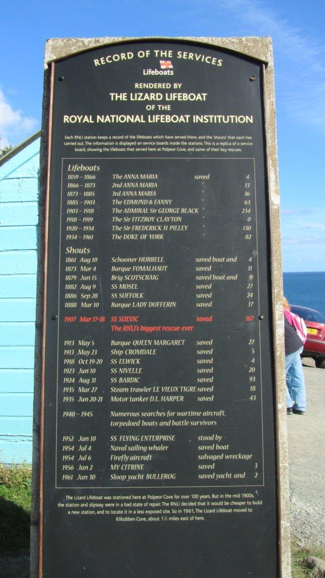 R.N.L.I. plaque commemorating the event.