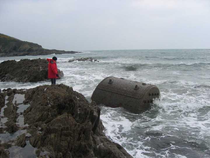 The boiler at low tide.