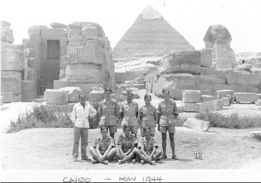 Family Ted in Egypt on his return from South Africa; he is second from the right, standing.