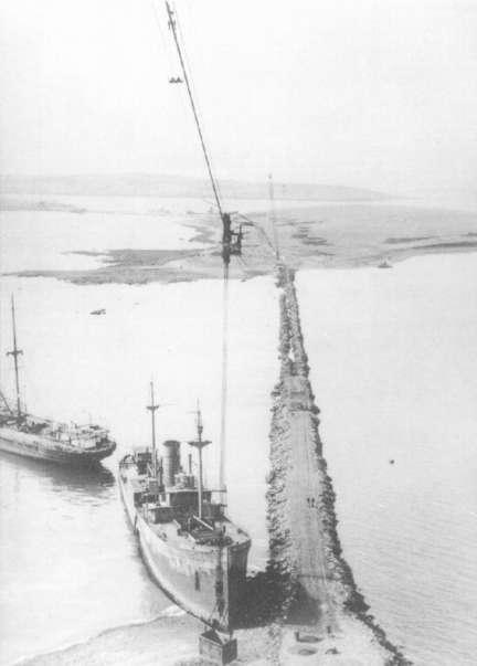 Churchill Barrier under construction.