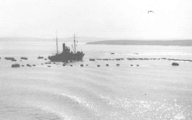 Anti submarine boom.