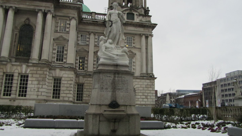 Titanic Memorial in Belfast City Center.