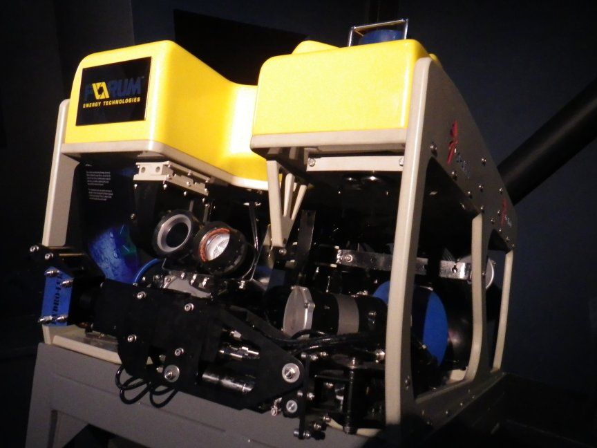 One of the ROV's used to take film of the wreck.