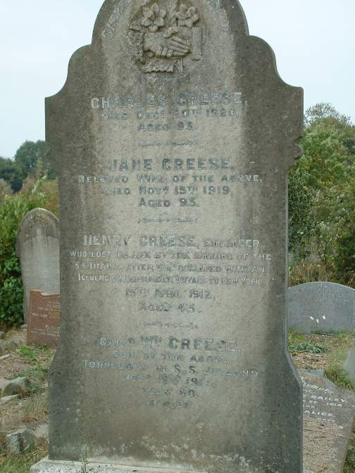 The grave at Ford Park cemetary.